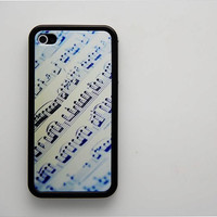 Rubber Case music sheet iPhone 4/4S case