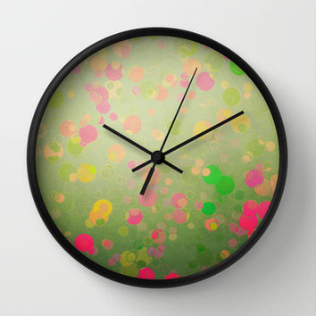 Funny Bubbles Wall Clock by SensualPatterns