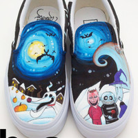 Custom Vans- Nightmare Before Christmas
