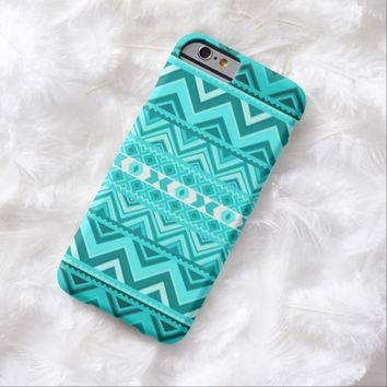 Mint Aztec iPhone 6 Case