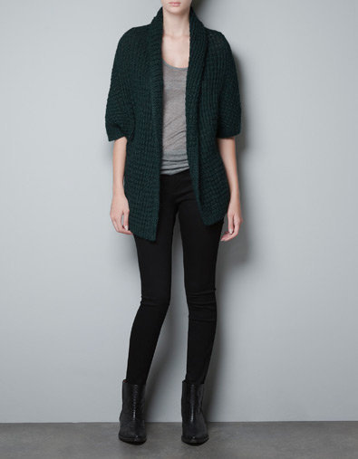 WRAPAROUND ALPACA CARDIGAN - Woman - New this week - ZARA Canada