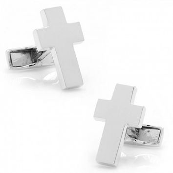 Ravi Ratan Mens Sterling Cross Cufflinks