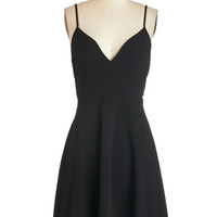 ModCloth LBD Mid-length Spaghetti Straps A-line Tour de Dance Dress