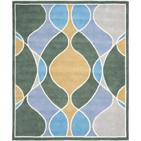 Safavieh SOH762C-5 Soho Grey and Multi Rectangle: 5 Ft. In. x 8 Ft. In. Area Rug