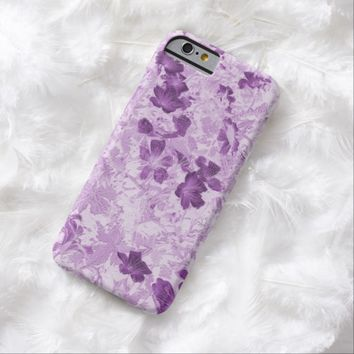 Vintage Inspired Floral Mauve Barely There iPhone 6 Case