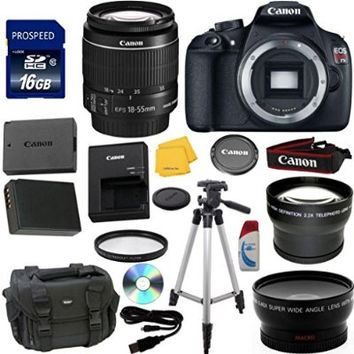 Canon EOS Rebel T5 Digital SLR Camera Bundle with EF-S 18-55mm IS II Lens Celltime Exclusive Kit with Extra Battery + Telephoto Lens + Wide Angle Lens + 7pc Accessory Kit