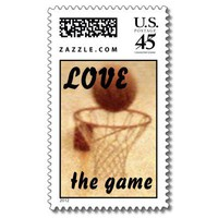 Basketball US Postage Stamp from Zazzle.com