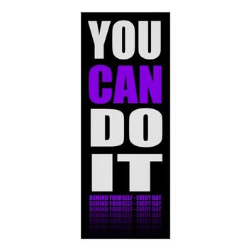 You Can Do It (purple) Motivational