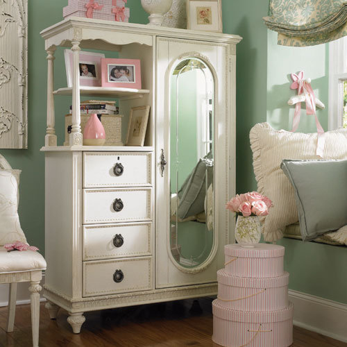 Cadence Cameo Mirror Door Chest : Drawer Chests at PoshTots