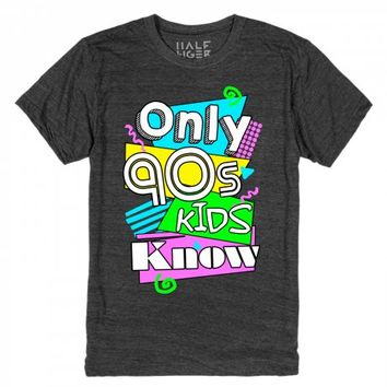 Only 90s Kids Know-Unisex Heather Onyx T-Shirt