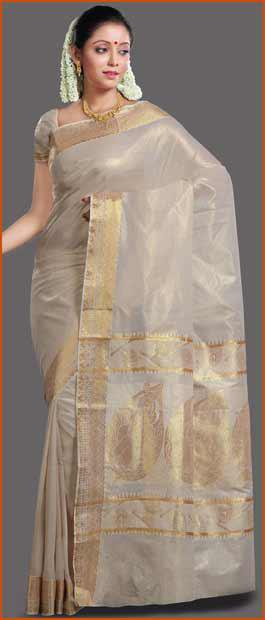 Kerala Sarees Online Shopping http://wanelo.com/p/1975941/light-cream-cotton-kerala-kasavu-saree-with-blouse-online-shopping-spn611