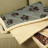 Sage Green Reversible Pet Dog Pad Mat Throw