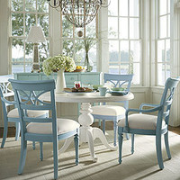 Coastal Living 48 Round Pedestal Table in Choice of Color - Dining Tables - Dining Room, Kitchen &amp; Bar - Furniture - PoshLiving