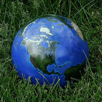 Bowling Ball, Garden Art, Globe, World, Earth, Earth Day, Gazing Ball