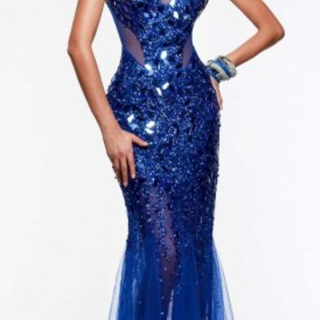 Mystic jeweled prom dresses by Faviana