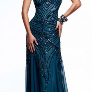 Thin strap prom dresses by Faviana