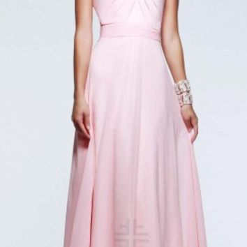 Structured halter prom dresses by Faviana