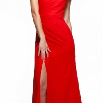 Halter illusion prom dresses by Faviana