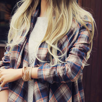 The Plaid & Fringe Top