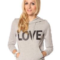 Papaya Clothing Online :: LOVE PRINT HOODIE TOP