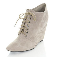 PIXIE Suede Grey Wedge Boot** - View All  - Shoes  - Miss Selfridge