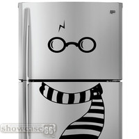 Chilly Potter Fridge Art HP - Vinyl Wall Art - FREE Shipping -  Fun Wall Decal Inspired by Harry Potter -