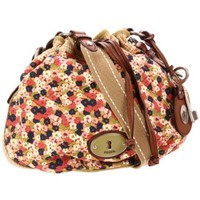 Fossil Maddox Floral Drawstring Hobo - designer shoes, handbags, jewelry, watches, and fashion accessories | endless.com