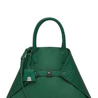 Akris 'AI Medium Messenger' Genuine Ostrich & Calfskin Leather Tote | Nordstrom