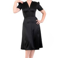 Black 1940s Mary Dress - Vintage Style Dress