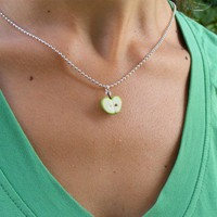 Granny Smith Necklace by shayaaron on Etsy