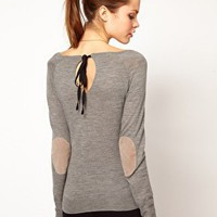 Kookai Jumper With Tie Back Detail at asos.com