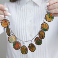 Necklace in one copy, Bubble Necklace, Statement Necklace