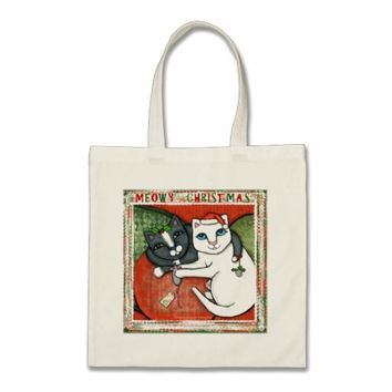 Christmas Cats Holiday Wishes Tote Bag