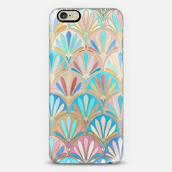 Vintage Twenties Art Deco Pastel Pattern on Transparent iPhone 6 case by Micklyn Le Feuvre | Casetify