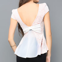 Back Chiffon Ribbon Top
