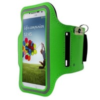 Cbus Wireless Running Jogging Sports GYM Armband Cover Case Holder for Samsung Galaxy S5 / S4 / S3 - Green