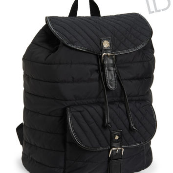 Aeropostale  LLD Quilted Backpack - Black, One