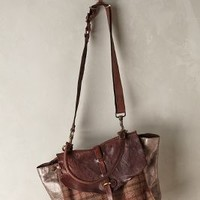 Rugged Plaid Satchel by Campomaggi Brown One Size Bags