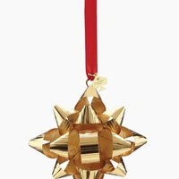 Kate Spade Tinsel Topper Gold Bow Ornament