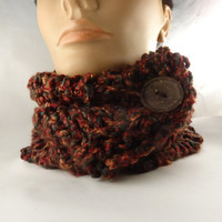 Cowl  Scarf Scarflette  Neckwarmer  Autumn Fall Colors
