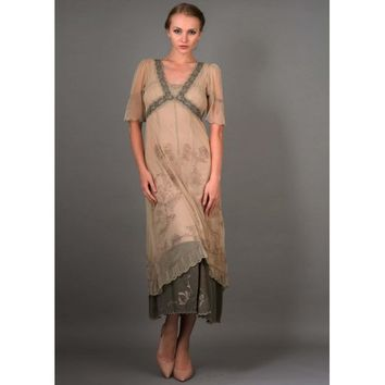 40007 New Vintage Titanic Dress in Sage