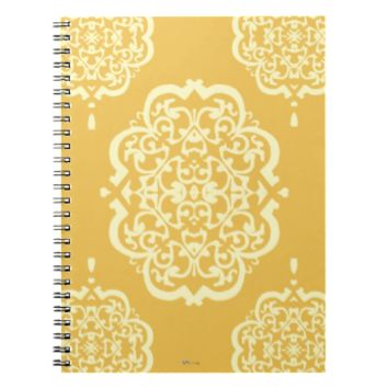 Quatrefoil Damask (Yellow) Notebook