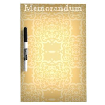 Quatrefoil Damask (Yellow) Dry-Erase Whiteboards
