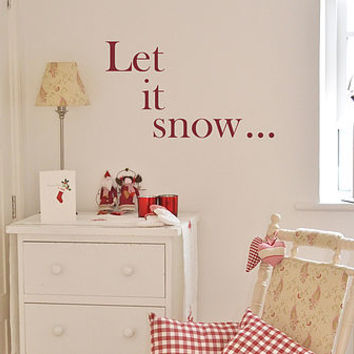 'Let It Snow…' Christmas Wall Sticker