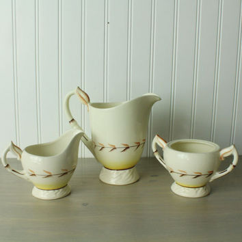 1960s California Pottery Coffee Service, S/3