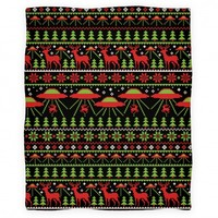 Alien Abduction Ugly Christmas Sweater Pattern