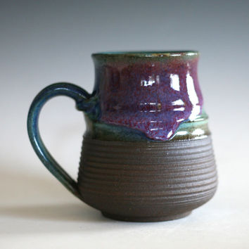 LARGE Coffee Mug, 17 oz, handmade ceramic cup, tea cup, coffee cup, handthrown ceramic stoneware pottery mug, unique coffee mug