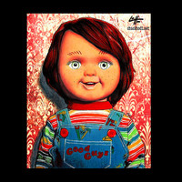 """Print 8x10"""" - Chucky Doll - Childs Play Horror Monster Creature Doll Toy Cute Halloween 80s Vintage Gothic Kill Pop Lowbrow Pop Art"""