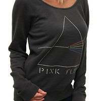 "Junk Food Clothing - Women's Collections - Rock & Roll - All - Pink Floyd Super Soft ""Flashdance"" Off the Shoulder Fleece"