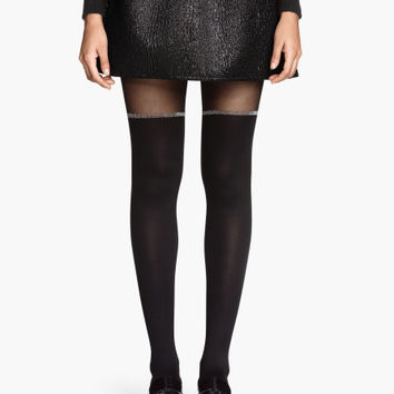 Block-striped Tights - from H&M